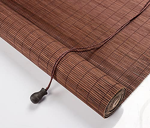 YUJIANHUAA Naturales Persianas Enrollables de Bambú,Estores de Bambú,Cortina de Madera,Toldo Vertical,Sombreado/Protección Solar/Privacidad Protección,para Interior Exterior (45x180cm/18x71in)