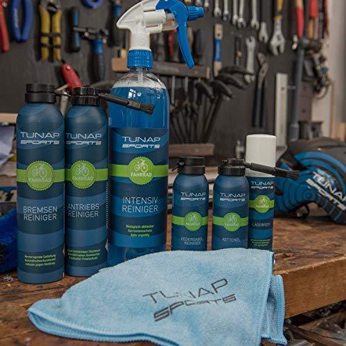 TUNAP SPORTS Bremsenreiniger Spray | Fahrrad Bremsen reinigen | Entfernt Verschmutzungen, zugunsten der Bremsleistung (300ml) - 8