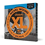 D'Addario Nickel Wound Electric Guitar Strings, 1-Pack, Lt. Top/Hvy. Bottom, 8-String, 10-74