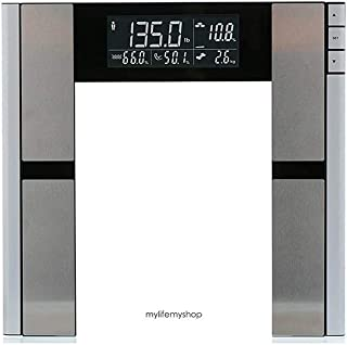 My Life My Shop Digital Body AnalyzerScale- Scale forbody weight, Body Fat, Muscle Mass, Bone Density, Water Weight, 397 Pound Capacity, Gray