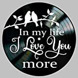 In My Life Song Lyric Art Inspired by Beatles Vinyl Record Album Wall Decor
