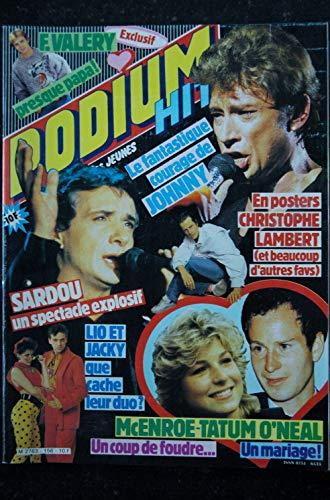 PODIUM HIT 156 février 1985 LIO KACKY SARDOU McENROE + POSTERS JEANNE MAS JOHNNY HALLYDAY CHRISTOPHE LAMBERT