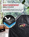 VicTsing Grill Cover, 58-Inch Waterproof BBQ Cover, 600D Heavy Duty Gas Grill Cover for weber,Brinkmann, Char Broil, Holland and Jenn Air(UV & Dust & Water Resistant, Weather Resistant, Rip Resistant)