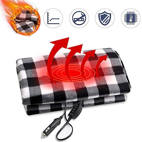 MAXTUF Auto Heizdecke, 12V Elektrische Wärmedecke Wärmeunterbett mit Abschaltautomatik 2 Temperaturstufen und Schnellheizung Überhitzungsschutz Waschbar Wärmebett für Auto KFZ (150 x 100cm)