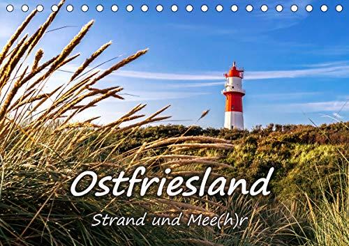 OSTFRIESLAND Strand und Mee(h) r (Tischkalender 2021 DIN A5 quer)