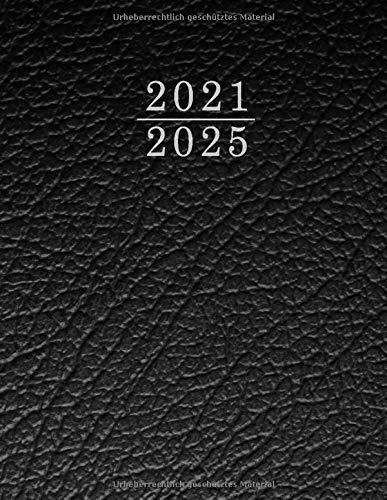 Monatsplaner 2021 2025 A4, Kalender Terminkalender 2021-2025, Terminplaner Planer mit Monatlichen Tabs , Kalender A4 - terminplaner für bis 60 Monate+ ... Seiten - 160 Seiten, 21,5 x 27,5 - (Schwarz)