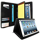 KHOMO Universal Tablet Padfolio Zippered Case for 8.5'' up to 11'' tablets - Carbon Fiber - Compatible with iPad Air, Pro 11 and many others
