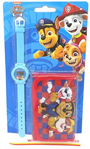 TDL Paw Patrol Geschenkset Uhr + Geldbörse - Offiziell Lizensiert -Watch & Wallet