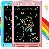 Tableta de Escritura LCD para Niños y Niña 2 Paquetes, Juguetes Niña y Niños de 3 4 5 6 años, Tablero Escritura de Pantalla Colorida de 8,5 Pulgadas, Regalo Cumpleaños para Niños y Niña de 2 a 8 años