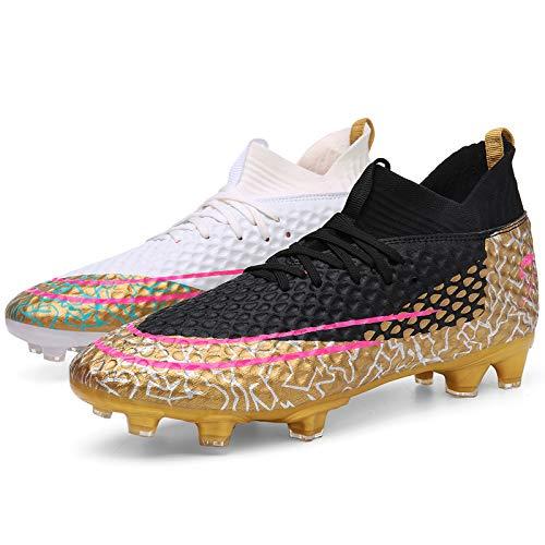 TAZAN Buty piłkarskie dla dzieci wysokie góra kolce buty piłkarskie trenażer profesjonalne trampki buty sportowe unisex buty piłkarskie chłopcy buty sportowe (34-47 EU), wielokolorowe 2,38