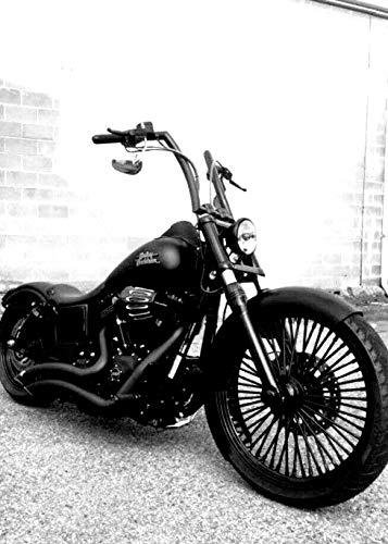 JBSporty ♤ Harley Davidson Dyna ♤ Black Out Vinyl Decal Fork Kit ♧ Fat Bob Street Bob Custom Low Bobber
