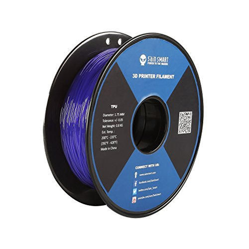 SainSmart 1.75mm-TPU-Violet Violet Flexible TPU 3D Printing Filament, 1.75 mm, 0.8 kg, Dimensional Accuracy +/- 0.05 mm