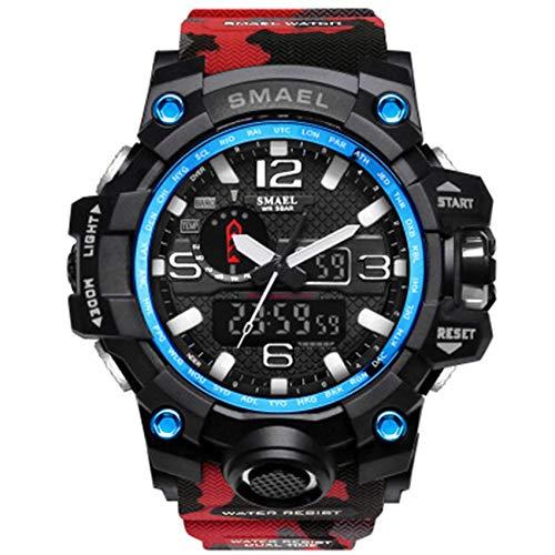 SXXYTCWL Relojes de Pulsera Impermeable Relojes Digital Sport Relojes for Hombres Regalo del Reloj, Choque analógica Resistente al Corriente del Hombre Reloj de Pulsera jianyou (Color : D)