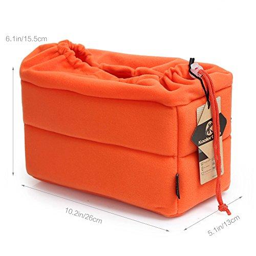 Koolertron Custodia Borsa Cover Case Protettivo per Fotocamera Camera DSLR SLR SONY Canon Nikon Flash Light (Arancione)