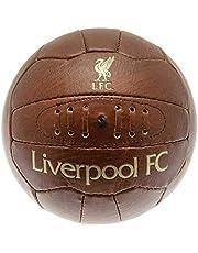 Liverpool FC - Balón de fútbol (talla 5), diseño retro, color marrón