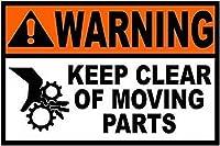 185グレートティンサインアルミニウム警告可動部品を避けてください屋外および屋内サイン壁の装飾12x8インチ