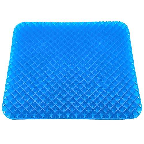 【2重設計+菱形構造】ゲルクッション 無重力クッション 超通気 座布団涼しい 座 り心地抜群 健康クッション 体圧分散 蒸れない オフィス 車 椅子用 夏場最適 洗えるカバー付き