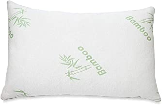 Beauenty Cool Shredded Memory Foam Adjustable Bamboo Pillow for Sleeping with Removable Washable Bamboo Rayon Zipper Cove...