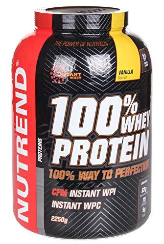De proteína de suero Nutrend 100% Vanilla por Nutrend 2250g espectro perfecto de aminoácidos con alto valor biológico en este producto de vanguardia