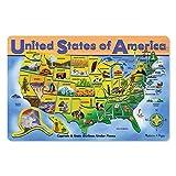 Melissa & Doug: Estados Unidos mapa - madera rompecabezas
