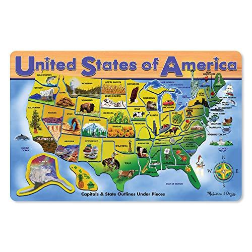 Melissa & Doug USA Map Puzzle 45 pcs
