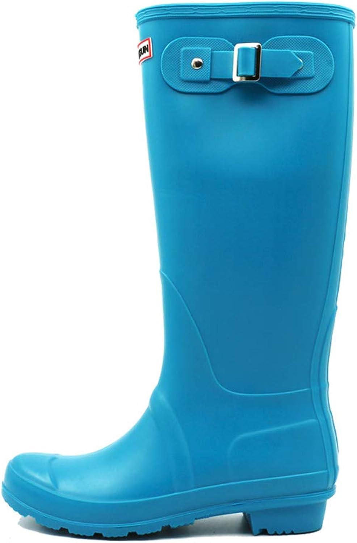 SUNNY Store Women's The Knee Thigh High Flat Boot Rain Boots