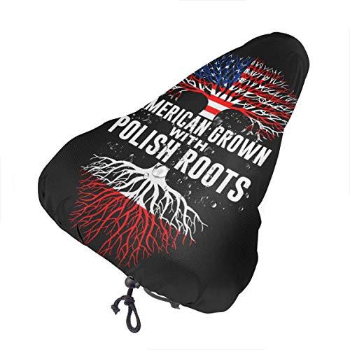 Enoqunt Fahrradsitzbezug-American Crown mit polnischen Wurzeln Fahrradsattel Regenbezug mit Kordelzug, Fahrradsitzschutzschild