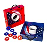 LiRen-Shop Solid Wood Washer Toss Game - 8 Washers with Built in Bottle Openers for Outdoor Games & Activities