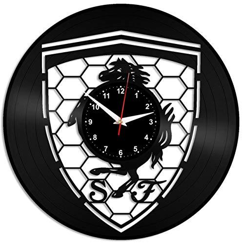EVEVO Ferrari Reloj De Pared Vintage Accesorios De Decoración del Hogar Diseño Moderno Reloj De Vinilo Colgante Reloj...
