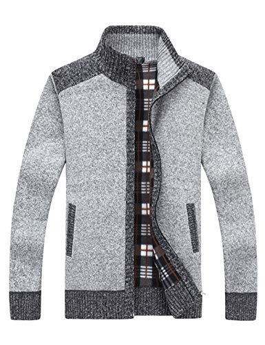 Men's Cardigan Zip Up Sweater