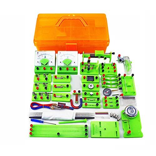 Pevfeciy Laboratorio De Física Juego,Kit de Aprendizaje Básico de Circuitos Experimento, Electricidad...