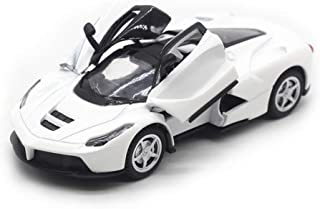 LW Modern Cars Style 1:32 Sports Cars Scale Diecast Car Model Collection Light&Sound (White)