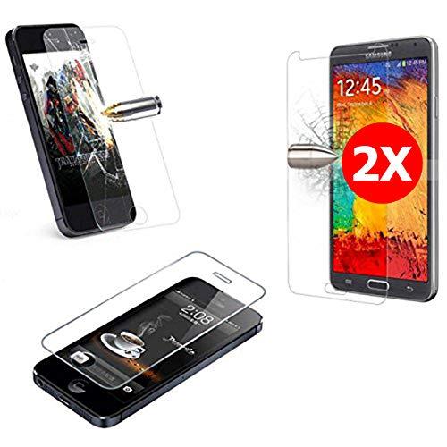 TBOC 2X Hartglas Schutzfolie für Samsung Galaxy J7 (2017) J730F (5.5 Zoll) (Zwei Einheiten) Panzerglas Bildschirmschutz in Kristallklar 9H Bildschirm Schutzglas in Premiumqualität Glas Folie Tempered Glass