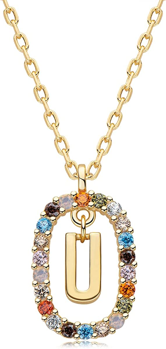 EONFUN Initial Necklaces Bargain for Easy-to-use Womens Plated Sterli Girls Gold 14K