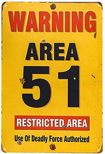 8X 12 Area 51 Metal Sign - Warning Military Restricted Area - Vintage Look