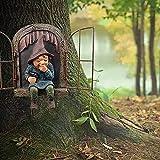 Gartendeko Figuren, Kolylong®Gartenzwerg Lustig Kichert auf der Fensterbank, Kann als Geschenk oder Dekoration Verwendet Werden, um Menschen Glücklich zu Machen