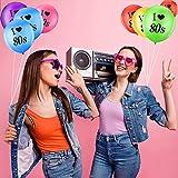 Gejoy 24 Stück Ich Liebe 80 Jahre Luftballons Sortiert Farbe Latex 80 Jahre Luftballons für 1980er Jahre Retro Themen Dekorationen Geburtstag Party - 3