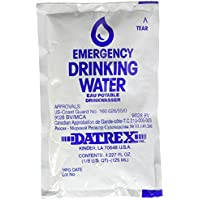 64-Pack Datrex 125ml Emergency Drinking Water Pouch