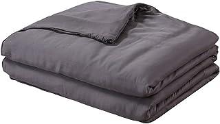 DreamZ 7KG Weighted Blanket Promote Deep Sleep Anti Anxiety Single Dark Grey 7kg: 122cm x 198cm 7kg: 122cm x 198cm