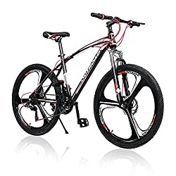 professional Outroad mountain bike, 26 inch wheels, 21 gears, 3 spokes, double disc brakes, bicycle suspension …