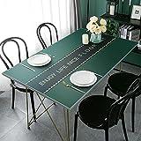 LIUJIU Mantel de mesa, mantel de poliéster adecuado para mesa de comedor, muy adecuado para uso en banquetes, 85x135cm