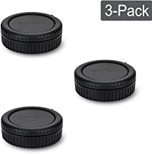 Rear Lens Cap & Body Cap Cover Fit for Canon RF Mount for Canon EOS R Replaces RF Rear Lens Cap & R-F-5 Body Cap -3 Packs