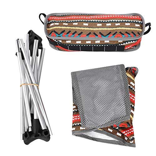 Gugxiom Silla de Camping Plegable, Taburete de Pesca Plegable práctico portátil para Aventuras al Aire Libre y Actividades para Viajar para Acampar