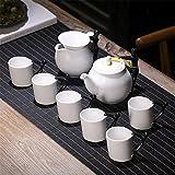 Candicely Juego de Té Juego de té de decoración de hogares té de la Tarde Japonesa Tetera de cerámica Set Hermosa Tetera Japonesa for la Familia y la Fiesta del té Oficina Tetera de cerámica