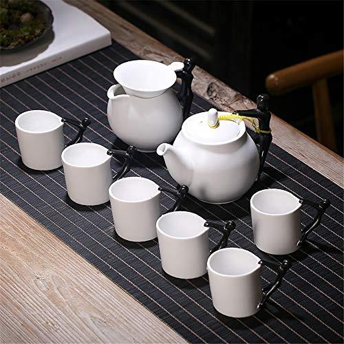 Juego de té Juego de té de decoración de hogares té de la tarde japonesa Tetera de cerámica Set Hermosa Tetera japonesa for la familia y la fiesta del té Oficina tetera de cerámica para uso doméstico