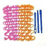 24 pz 50 cm Capelli Bigodino Spirale Bigodino Wave Bigodino Styling Kit adatto per la maggior parte dei tipi di capelli CHAOCHAO