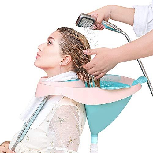 Mobiles Haarwaschbecken Friseur Waschbecken Rückwärtswaschbecken Faltbares Waschbecken mit Abflussrohr für Salon, Senioren, Schwangere Frau