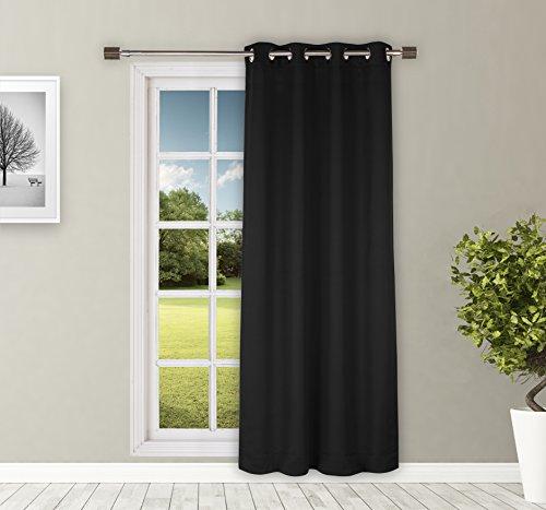 Solimo Door Curtain, 7 Feet – Set of 1 (Black)