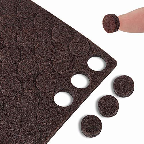 Small Felt Pads Bumpers 10mm Diameter 100PCS Cabinet Door Pads Felt Dots 5mm Thick Self Adhesive