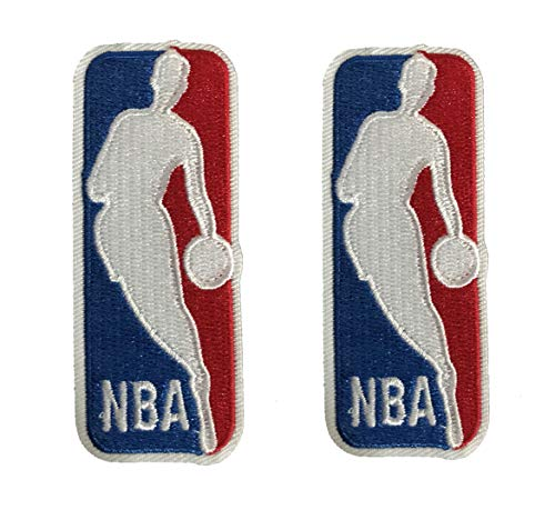 Full 90 Basketball Logo Iron on or Sew on Embroidered Patch 2 Pcs